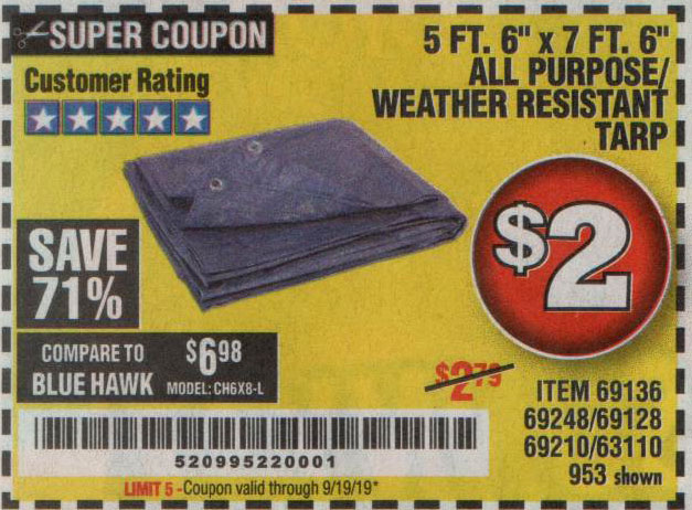 Harbor Freight Tools Coupons, Harbor Freight Coupon, HF Coupons-5 Ft. 6