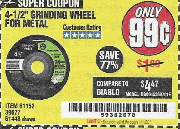 Harbor Freight Tools Coupons, Harbor Freight Coupon, HF Coupons-4-1/2
