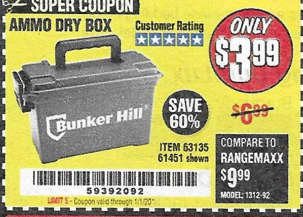 Harbor Freight Tools Coupons, Harbor Freight Coupon, HF Coupons-Ammo Box
