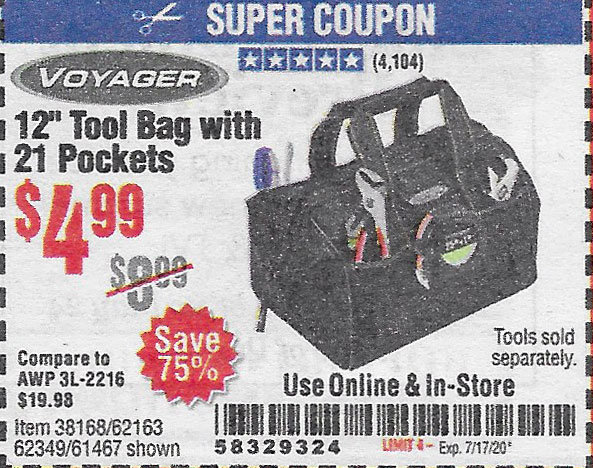 Harbor Freight Tools Coupons, Harbor Freight Coupon, HF Coupons-Voyager 12