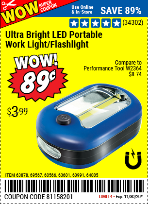 Harbor Freight Tools Coupons, Harbor Freight Coupon, HF Coupons-Led Portable Worklight/flashlight
