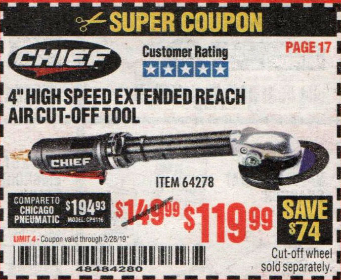 Harbor Freight Coupons, HF Coupons, 20% off - Chief 4