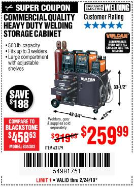 Harbor Freight Coupons, HF Coupons, 20% off - Commercial Quality Heavy Duty Welding Cabinet