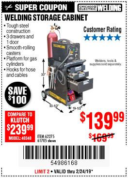 Harbor Freight Coupons, HF Coupons, 20% off - Welding Storage Cabinet