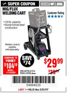 Harbor Freight Coupons, HF Coupons, 20% off - Mig-flux Welding Cart
