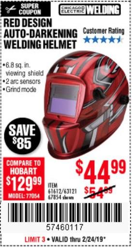 Harbor Freight Coupons, HF Coupons, 20% off - Auto-darkening Welding Helmet With Racing Stripe Design
