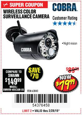 Harbor Freight Coupons, HF Coupons, 20% off - Wireless Color Surveillance Camera