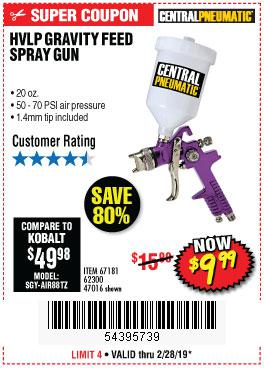 Harbor Freight Coupons, HF Coupons, 20% off - 20 Oz. Gravity Feed Spray Gun