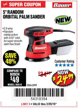 Harbor Freight Coupons, HF Coupons, 20% off - Bauer 2.8 Amp 5