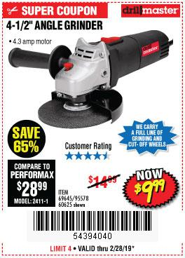Harbor Freight Coupons, HF Coupons, 20% off - 4-1/2