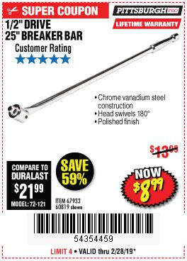 Harbor Freight Coupons, HF Coupons, 20% off - Pittsburgh Pro 1/2