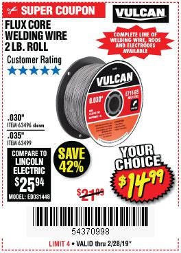 Harbor Freight Coupons, HF Coupons, 20% off - Flux Core Welding Wire