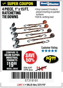 Harbor Freight Coupons, HF Coupons, 20% off - 4 Piece, 1