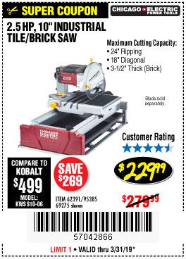 Harbor Freight Coupons, HF Coupons, 20% off - 2.5 Hp, 10