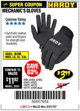 Harbor Freight Coupons, HF Coupons, 20% off - Mechanic's Gloves
