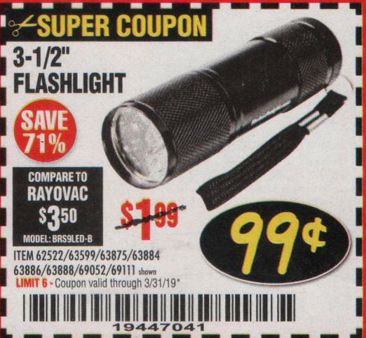 Harbor Freight Coupons, HF Coupons, 20% off - 3-1/2