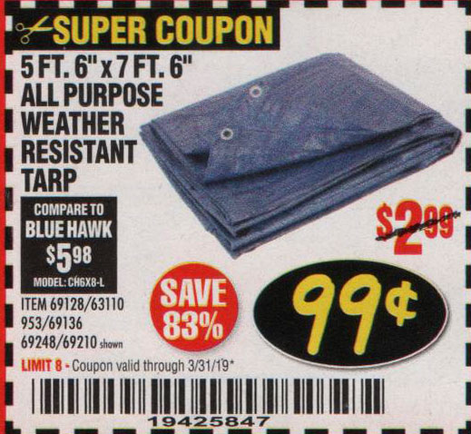 Harbor Freight Coupons, HF Coupons, 20% off - 5ft.6