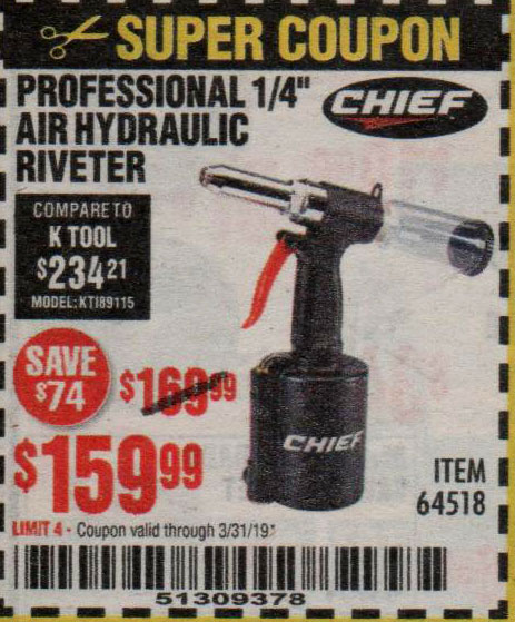 Harbor Freight Coupons, HF Coupons, 20% off - Professional 1/4