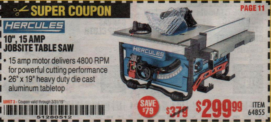 Harbor Freight Coupons, HF Coupons, 20% off - Hercules 10