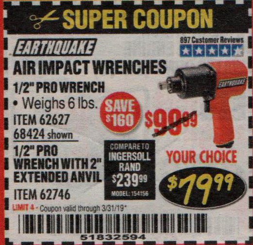 Harbor Freight Coupons, HF Coupons, 20% off - 1/2