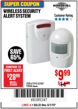 Harbor Freight Coupons, HF Coupons, 20% off - Wireless Security Alert System
