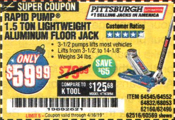 Harbor Freight Coupons, HF Coupons, 20% off - 64545