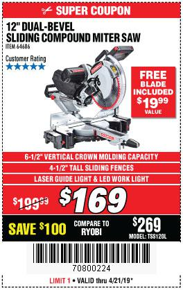 Harbor Freight Coupons, HF Coupons, 20% off - Admiral 12
