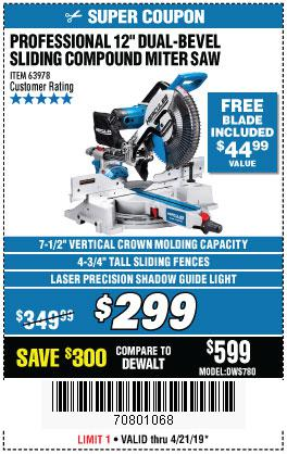 Harbor Freight Coupons, HF Coupons, 20% off - Hercules Professional 12