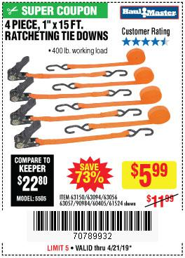 Harbor Freight Coupons, HF Coupons, 20% off - 4 Piece 1