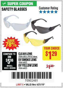 Harbor Freight Coupons, HF Coupons, 20% off - Safety Glasses