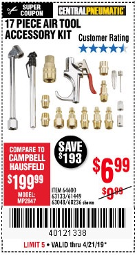 Harbor Freight Coupons, HF Coupons, 20% off - 64600