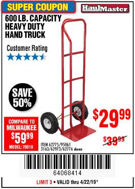 Harbor Freight Coupons, HF Coupons, 20% off - Heavy Duty Hand Truck
