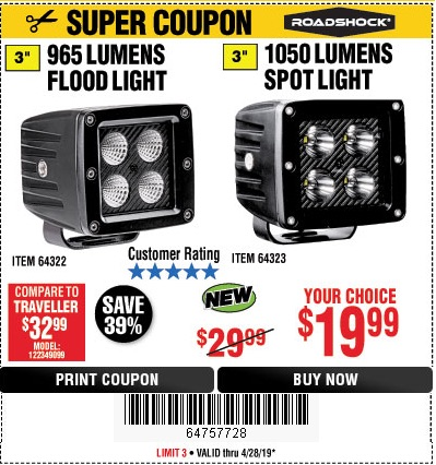 Harbor Freight Coupons, HF Coupons, 20% off - 965 Lumens 3