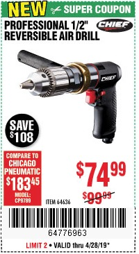 Harbor Freight Coupons, HF Coupons, 20% off - Chief Professional 1/2