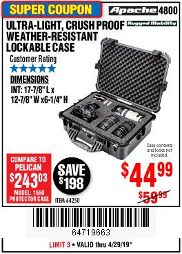 Harbor Freight Coupons, HF Coupons, 20% off - Apache 4800 Weatherproof Case