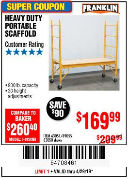 Harbor Freight Coupons, HF Coupons, 20% off - Heavy Duty Portable Scaffold