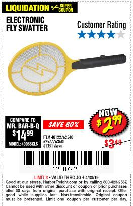 Harbor Freight Coupons, HF Coupons, 20% off - Electric Fly Swatter