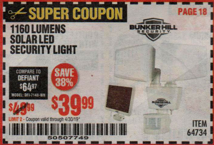 Harbor Freight Coupons, HF Coupons, 20% off - 64734
