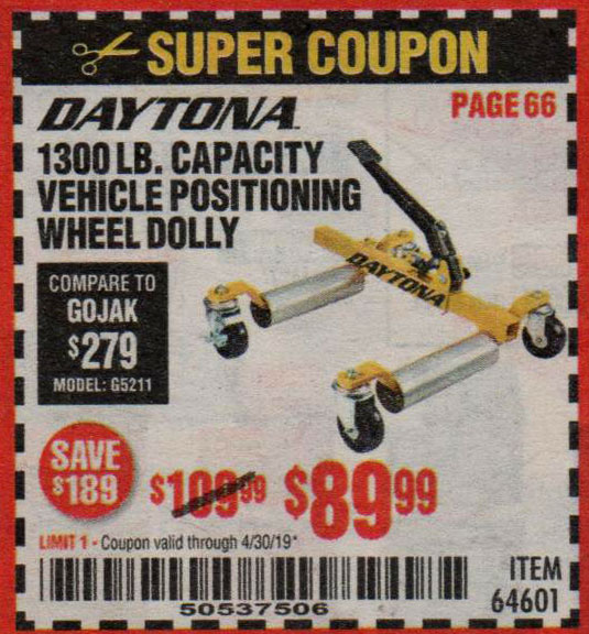 Harbor Freight Coupons, HF Coupons, 20% off - 64601