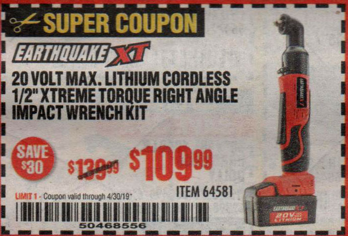 Harbor Freight Coupons, HF Coupons, 20% off - 64581