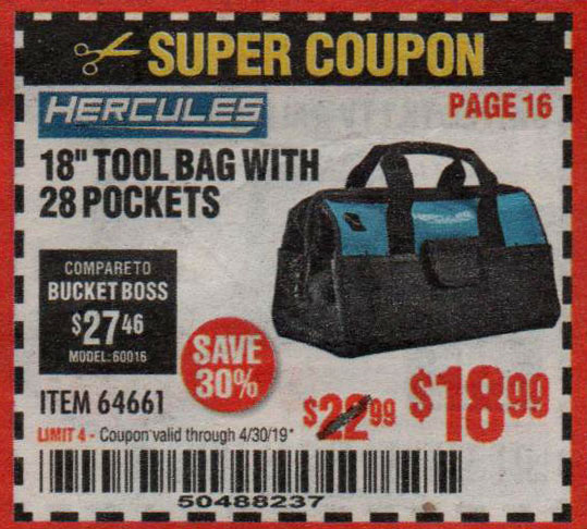 Harbor Freight Coupons, HF Coupons, 20% off - Hercules 18