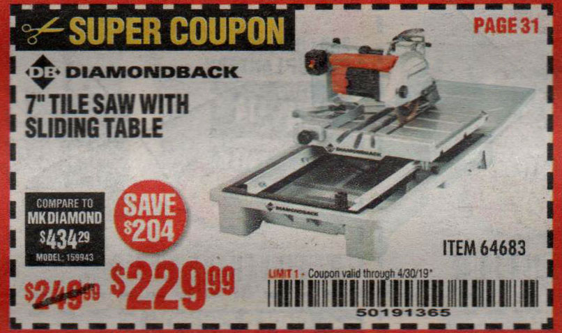 Harbor Freight Coupons, HF Coupons, 20% off - 1.5 Hp, 7
