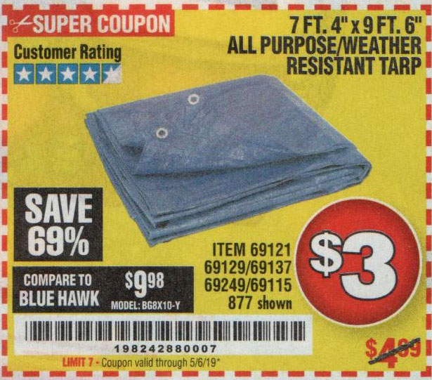 Harbor Freight Coupons, HF Coupons, 20% off - 7 Ft. 4