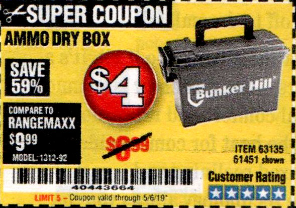 Harbor Freight Coupons, HF Coupons, 20% off - Ammo Box