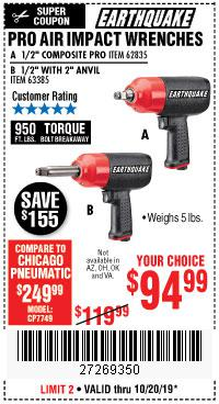 Harbor Freight Tools Coupons, Harbor Freight Coupon, HF Coupons-Earthquake 1/2