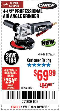 Harbor Freight Tools Coupons, Harbor Freight Coupon, HF Coupons-Professional 4-1/2