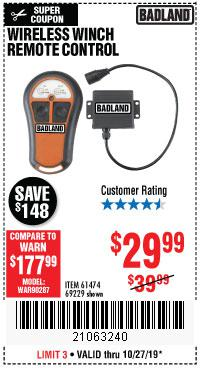 Harbor Freight Tools Coupons, Harbor Freight Coupon, HF Coupons-Wireless Winch Remote Control