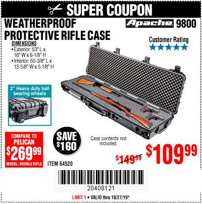 Harbor Freight Tools Coupons, Harbor Freight Coupon, HF Coupons-Apache 9800 Weatherproof 13-1/2