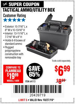 Harbor Freight Tools Coupons, Harbor Freight Coupon, HF Coupons-Tactical Ammo Box W/tray