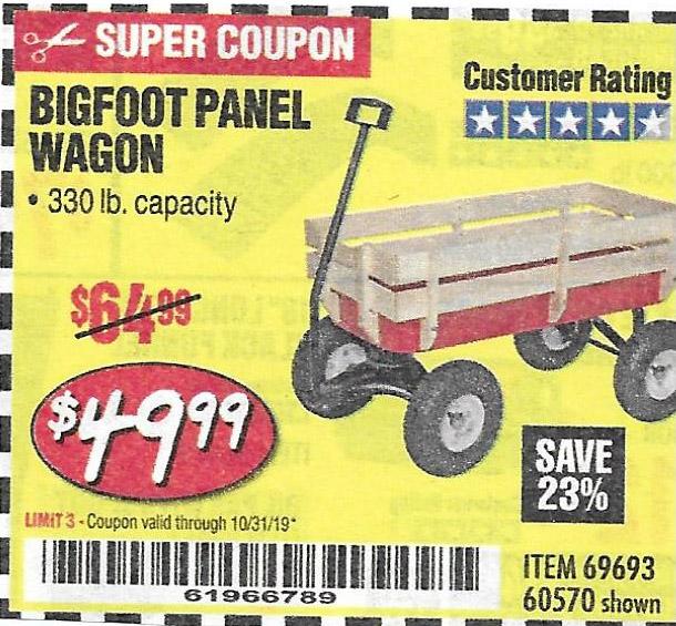 Harbor Freight Tools Coupons, Harbor Freight Coupon, HF Coupons-Bigfoot Panel Wagon